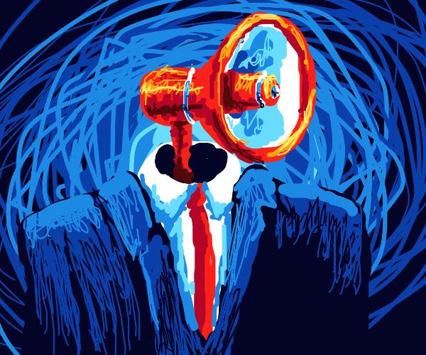 megaphone head