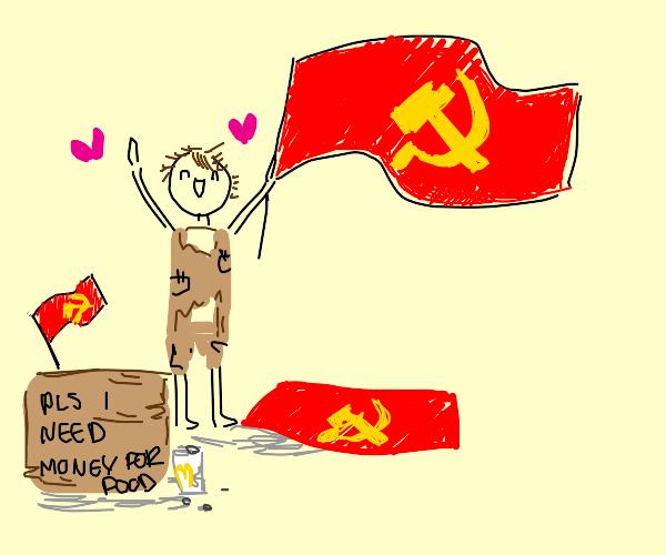 poor man loves communism