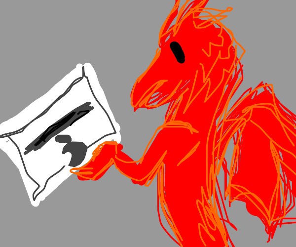 A red dragon is considering purchasing a mac