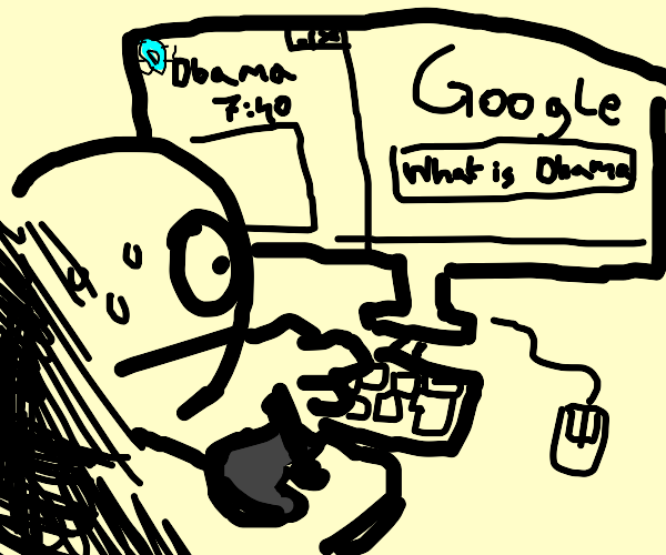 Your search history while playing drawception
