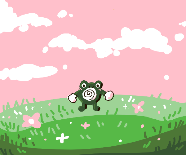 Poliwhirl in the middle of nowhere