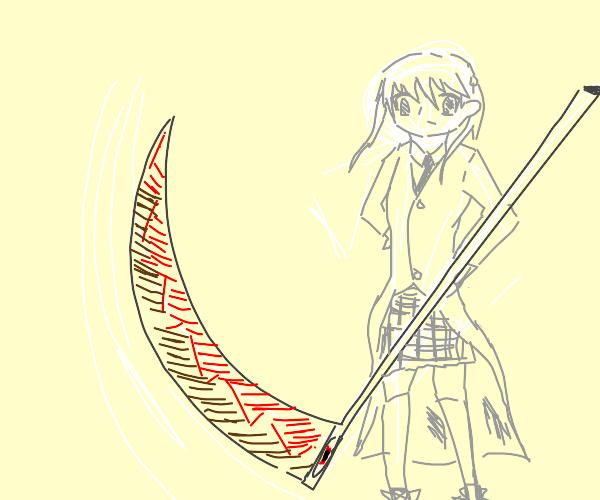 Anime girl with a scythe