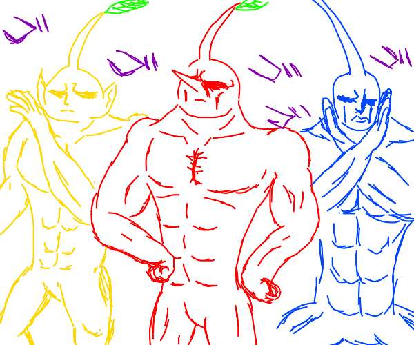Pikmin but they're all JACKED!!!