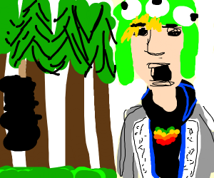 Jake Paul at the You-know-what Forest
