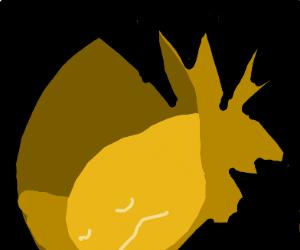 Sleeping eel in a cave