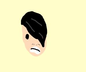 emo kid growing a mustache