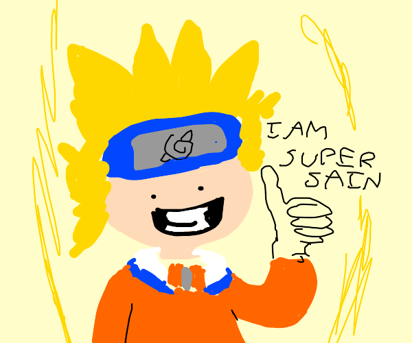 naruto goes super saiyan