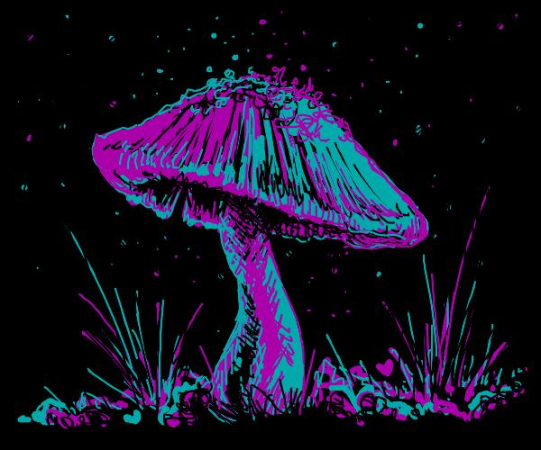 Amazing Glowing cave mushroom