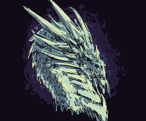 Dragon with ice spikes