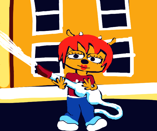 Lammy putting out the fire