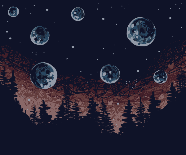 Several moons in alarmingly low orbit