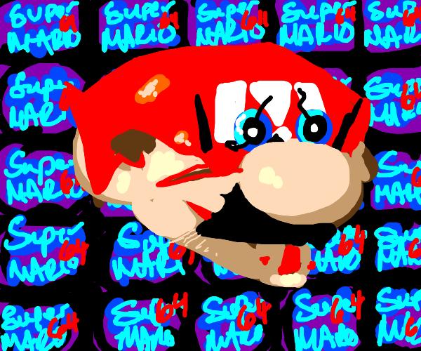 Disembodied Mario head