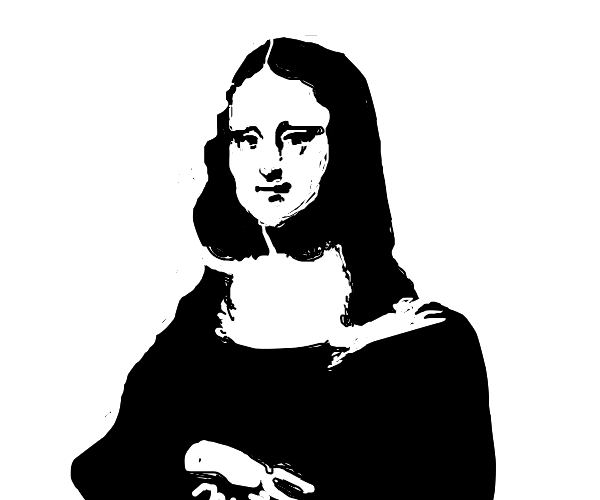 Mona Lisa in black and white