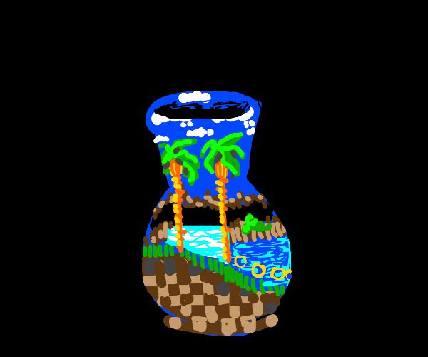 Green Hill Zone Vase