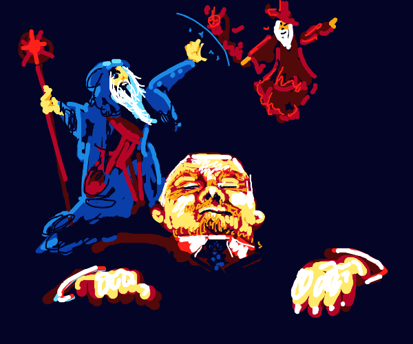 two wizards duel for lenin