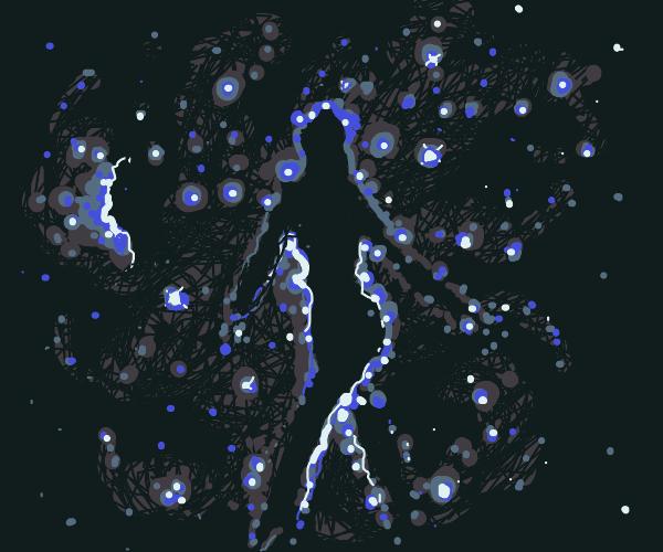 A Nebula shaped like a woman