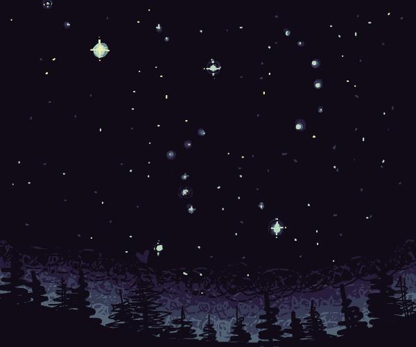 beautiful star-filled peaceful night