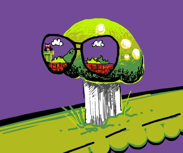 Mushroom With Super Mario Bros. Shades