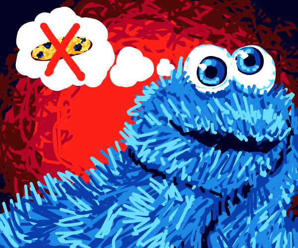 Cookie monster's son doesn't like cookies