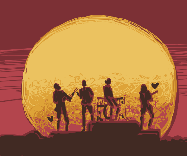 Band lovingly plays in the moonlight