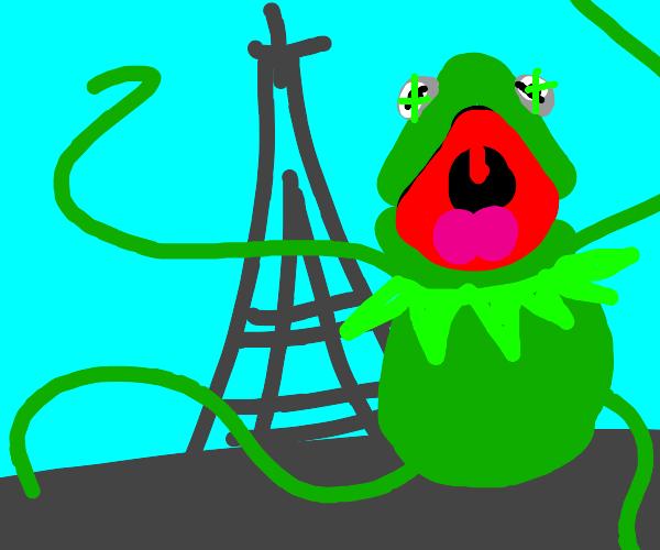 kermit the frog invades paris