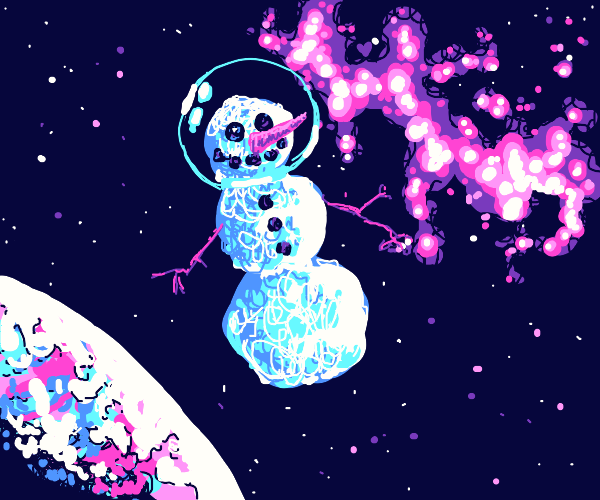 snowman in space