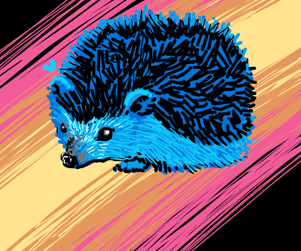 a blue hedgehog (not sonic)