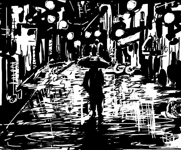 tokyo raining at night