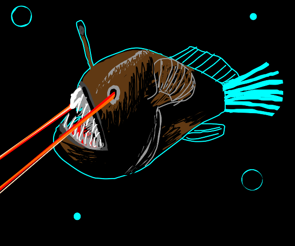 Anglerfish now has laser powers