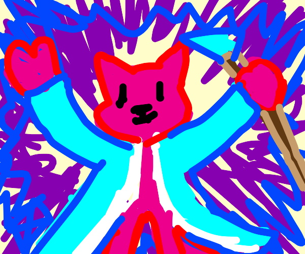 pink furry wizard