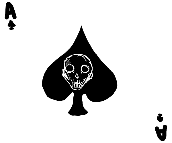 Ace of Spades with a skull