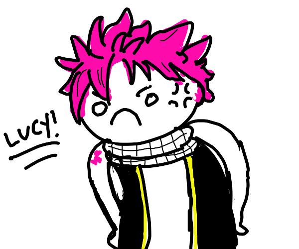 angry Natsu Dragneel
