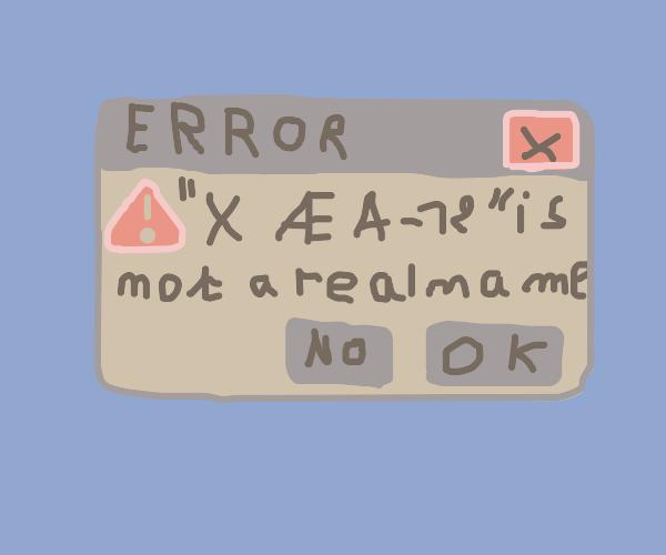 error X AE A 12