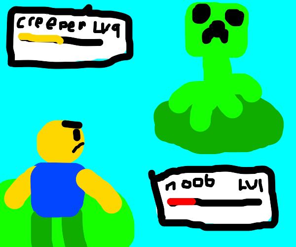 Creeper VS Roblox Noob in a Pokémon battle