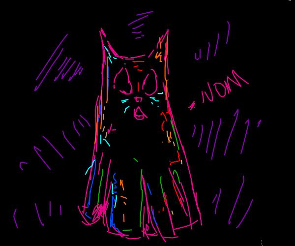 Ghost cat says nom