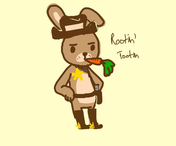 rabbit cowboy