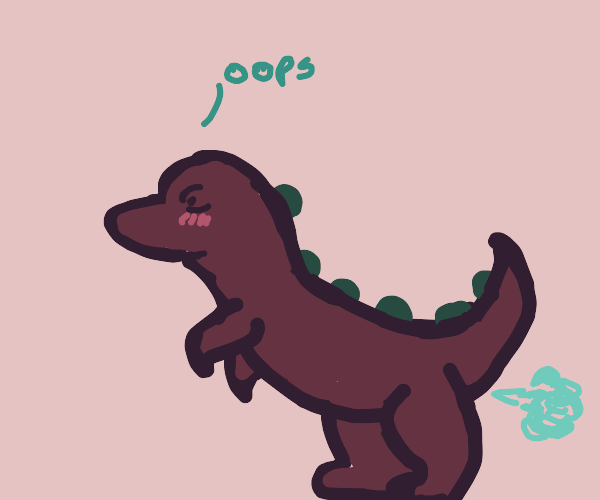 Dino is embarrassed about his gas