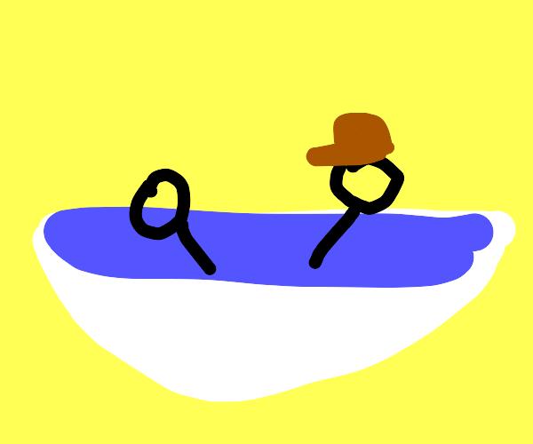 Bath with detective