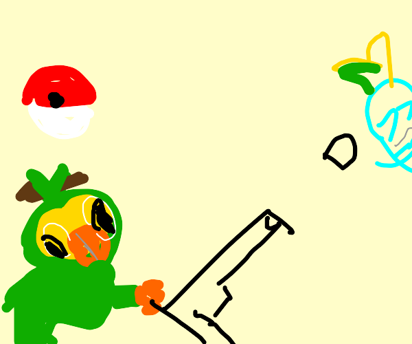 Grookey hunting it down with a Sniper