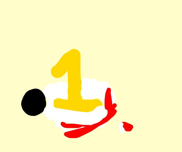 #1 crushes a sheep