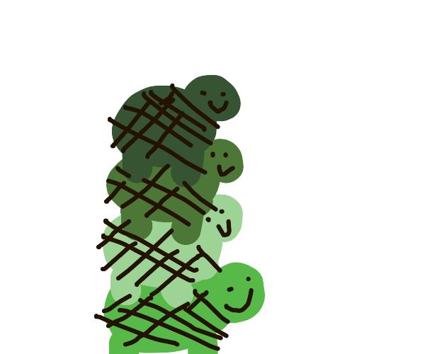 stacking turtles