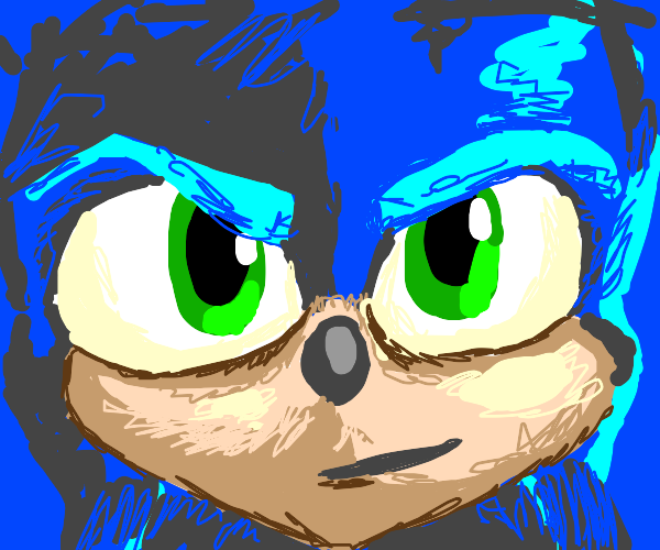 Sonic Movie Sonic (DON'T DRAW OLD DESIGN)