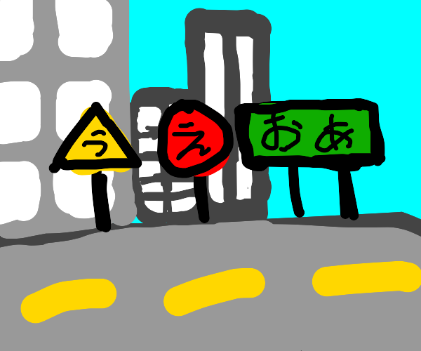 Complex street signs in (Japan?)