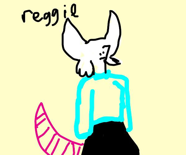 Hi My Name Is Reggie Drawception I think he's just so cute and adorable. hi my name is reggie drawception