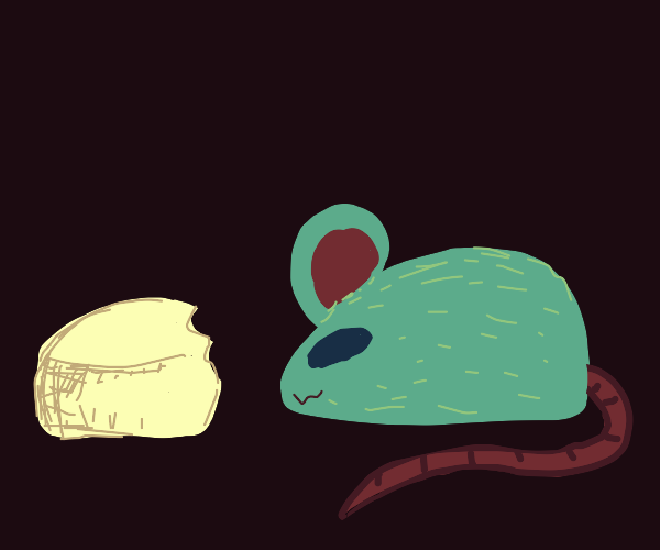 chill mouse has cheese