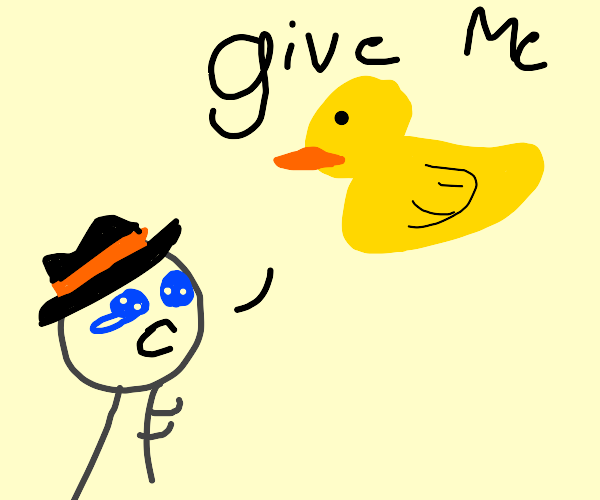 person begging drawseption for ducks