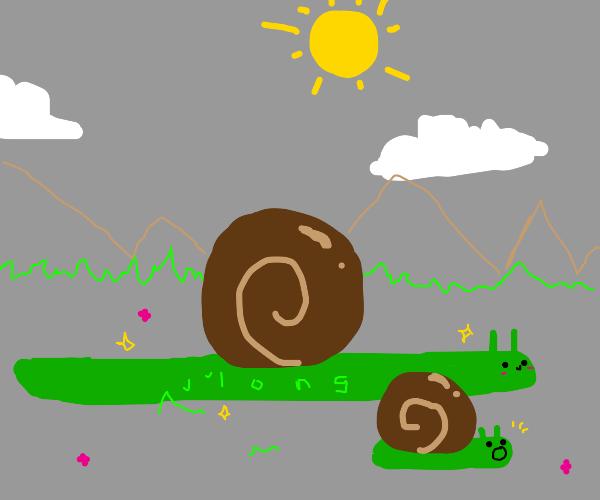 A long ass snail