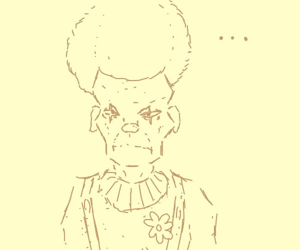 Clown staring at you