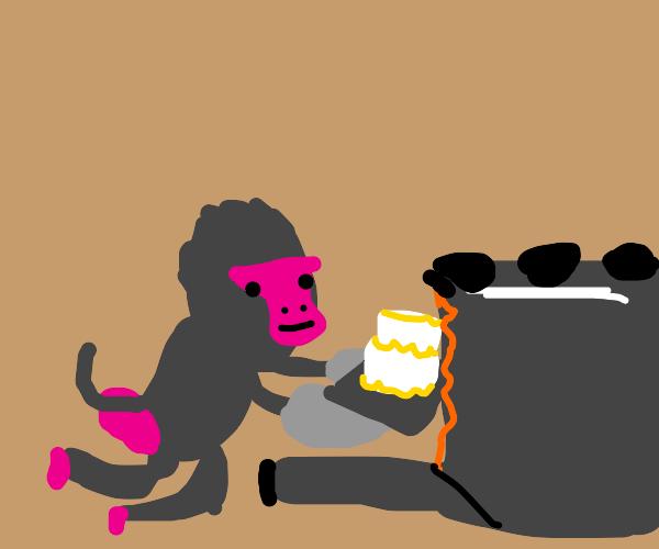 baboon makes a cake