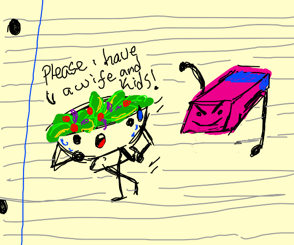 Salad drawing is scared of being deleted